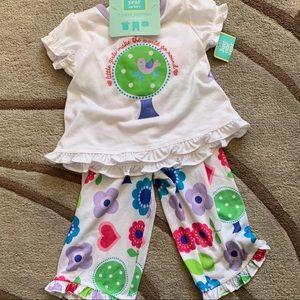 Toddler girls 3 piece pajama set size 18months
